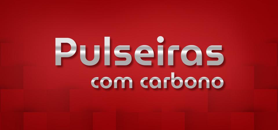 Pulseiras com carbono