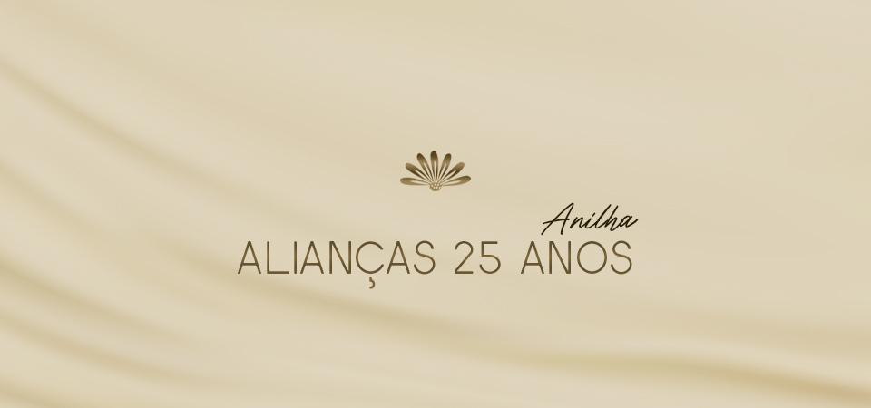 Alianças 25 Anos Anilha