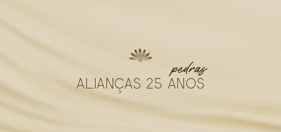 Alianças 25 Anos - Pedras
