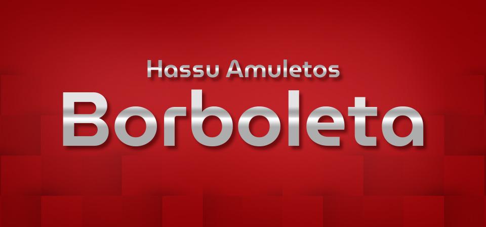 Hassu Amuletos - borboleta